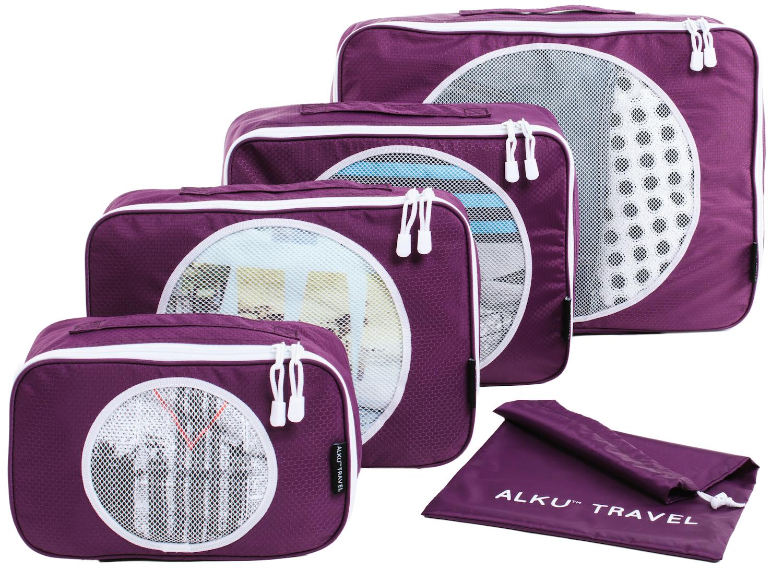 Alku Travel Packing Cubes Luggage Organizer Set