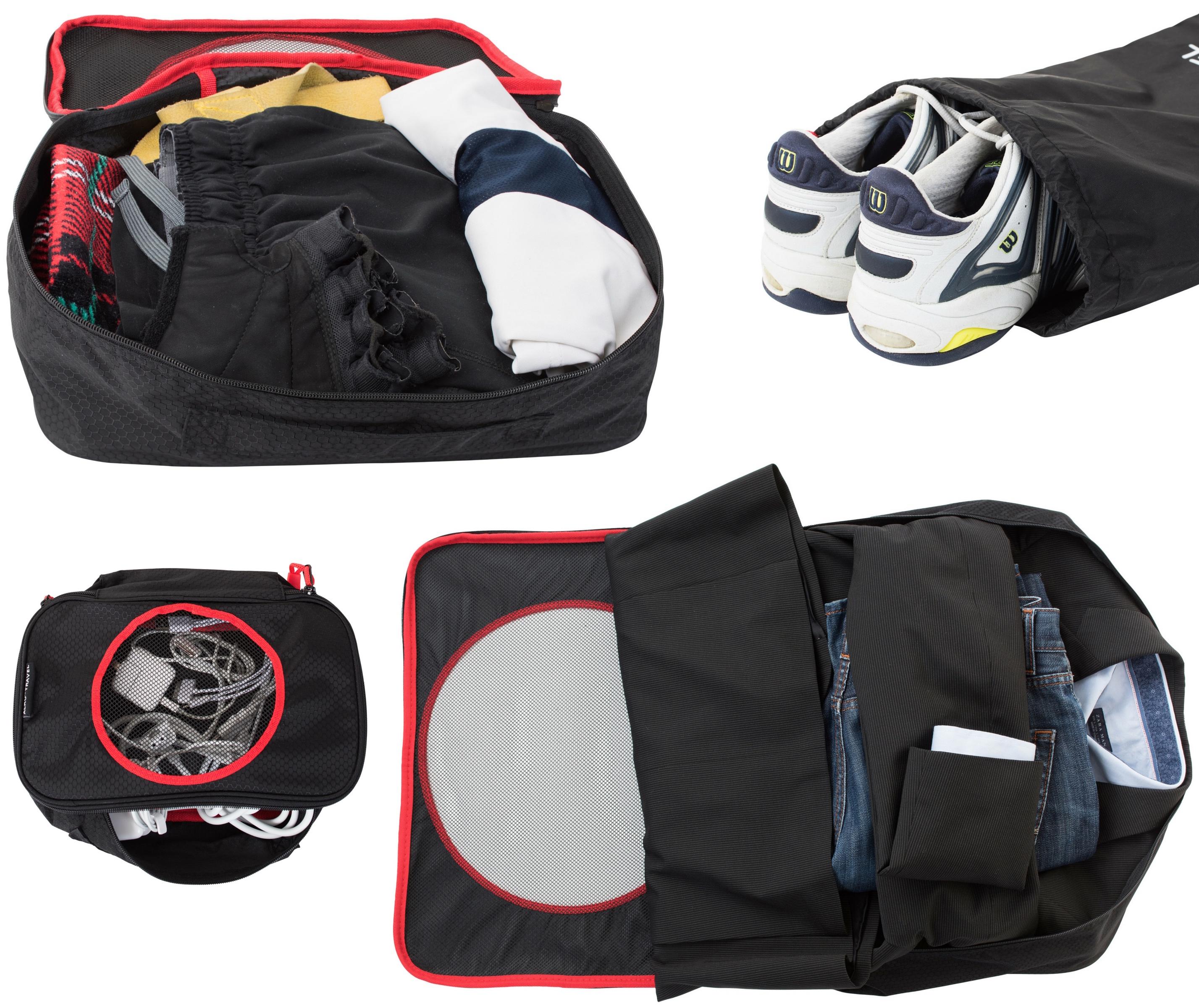 Alku Packing Cubes BLACK-lifestyle