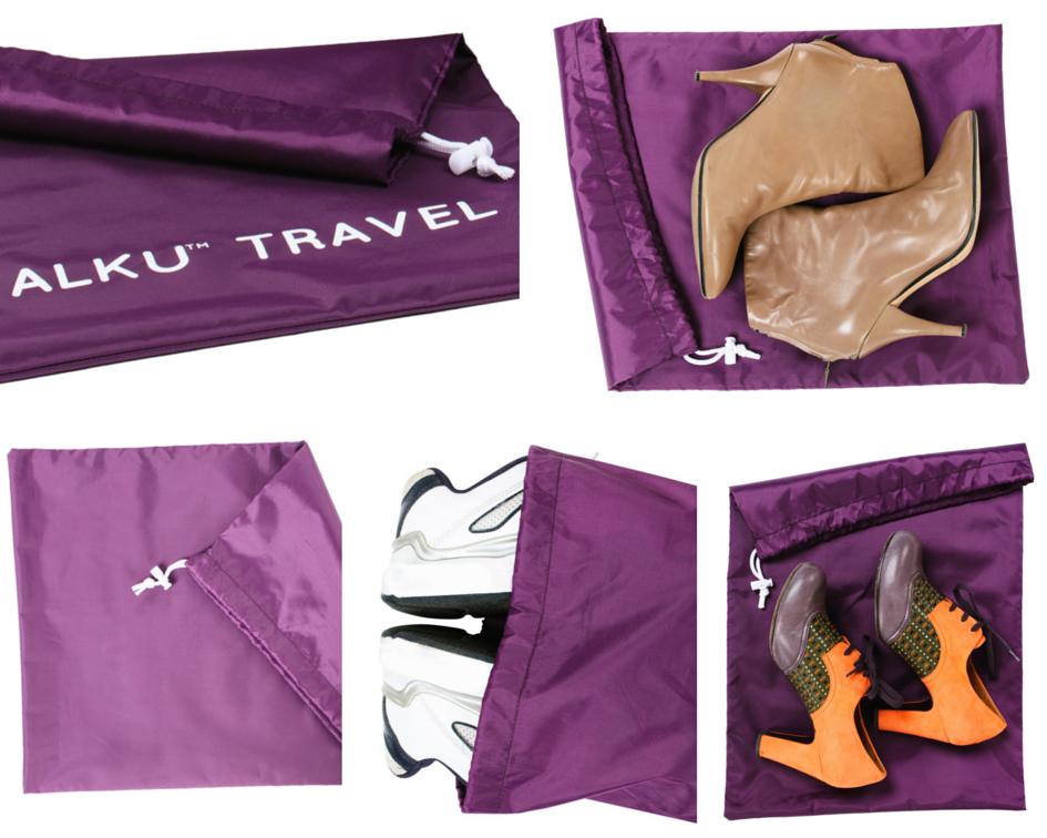 Alku Travel Packing Cubes Shoe Laundry Bag